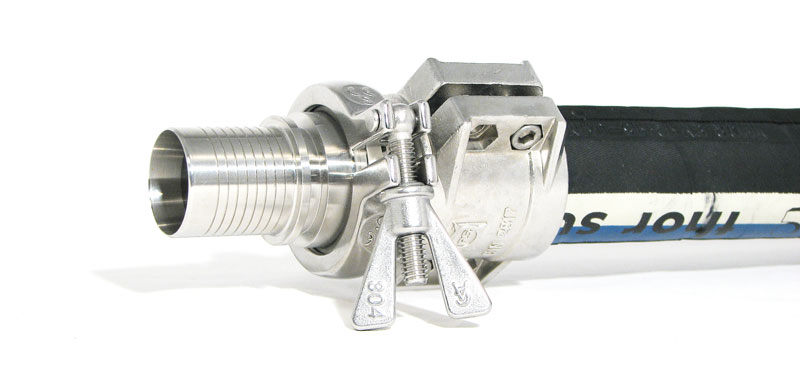 Hose-Fitting with mounted Clamp Collar