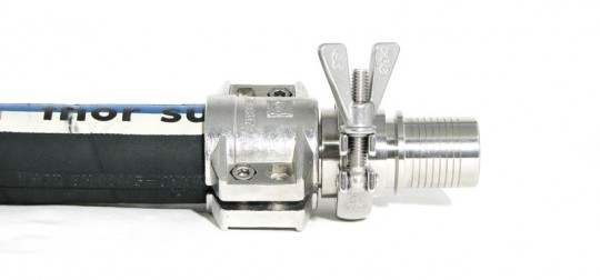 Hose Fitting mounted with Clamp Collar