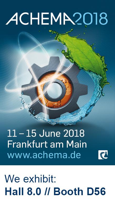ACHEMA - 11 - 15 June 2018