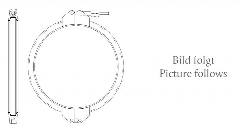 V-Profilschelle ohne Spannband Typ XEH - Ausführung mit Schwenkbolzen und Gelenk