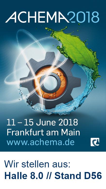 ACHEMA - 11. - 15. Juni 2018